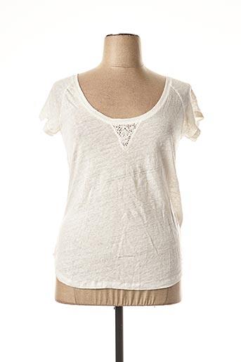 T-shirt manches courtes blanc DDP pour femme