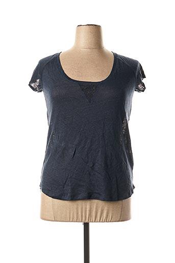 T-shirt manches courtes bleu DDP pour femme