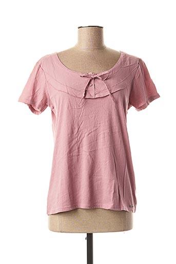 T-shirt manches courtes rose DDP pour femme
