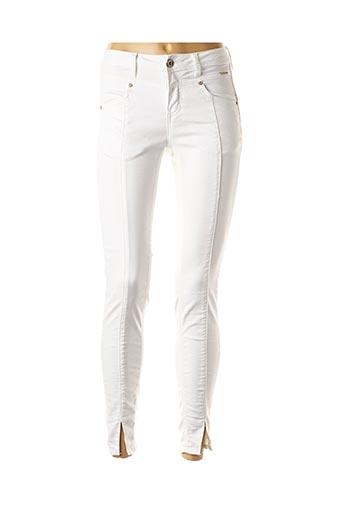 Pantalon casual blanc CREAM pour femme