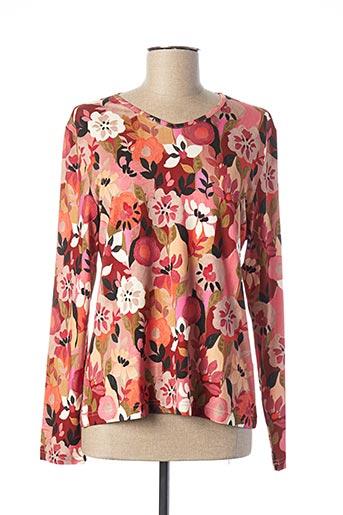 T-shirt manches longues rose GRIFFON pour femme