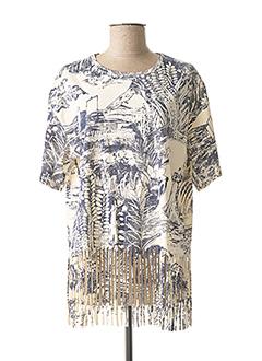 T-shirt manches courtes beige DESIGUAL pour femme