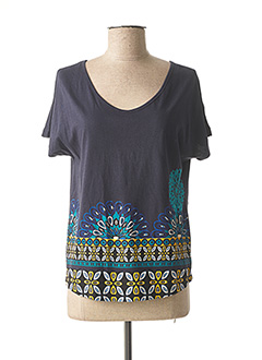 T-shirt manches courtes bleu DESIGUAL pour femme