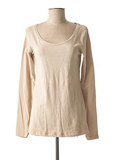 T-shirt manches longues beige TIFFOSI pour femme