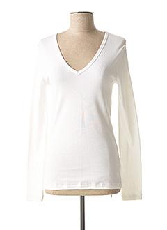 T-shirt manches longues blanc PETIT BATEAU pour fille