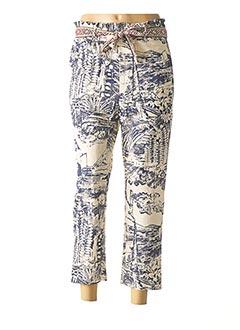 Pantalon 7/8 beige DESIGUAL pour femme