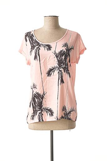 T-shirt manches courtes rose FREEMAN T.PORTER pour femme