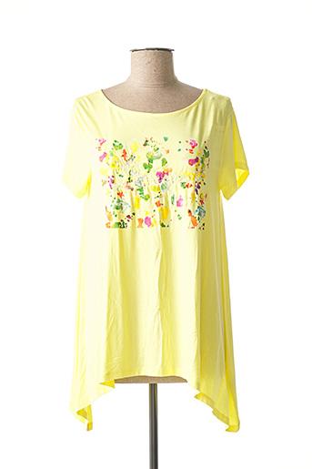 Tunique manches courtes jaune DESIGUAL pour femme