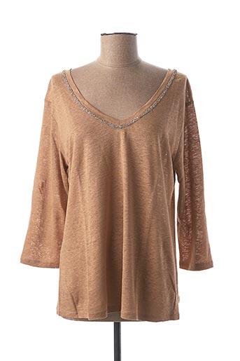T-shirt manches longues marron ANANKE pour femme