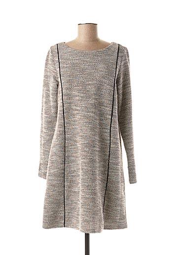Robe mi-longue gris BARANDI pour femme