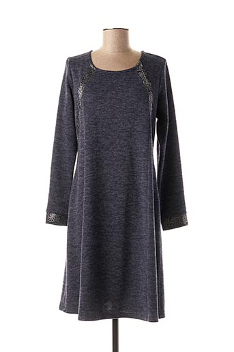 Robe pull bleu BARANDI pour femme