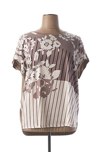 T-shirt manches courtes marron BRANDTEX pour femme