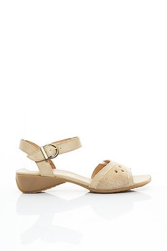 Sandales/Nu pieds beige KIM pour femme