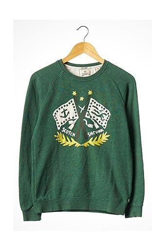 Sweat-shirt vert SCOTCH SHRUNK pour garçon