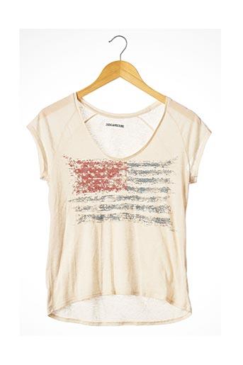 T-shirt manches courtes beige ZADIG & VOLTAIRE pour femme