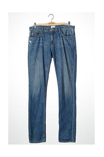 Jeans coupe droite bleu HUDSON pour homme