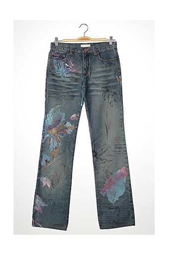 Pantalon casual bleu ROBERTO CAVALLI pour femme