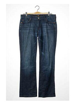 Pantalon 7/8 bleu FOR ALL MANKIND pour femme