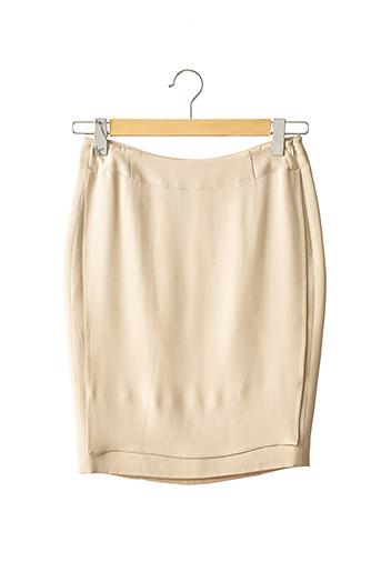 Jupe mi-longue beige ARMANI pour femme