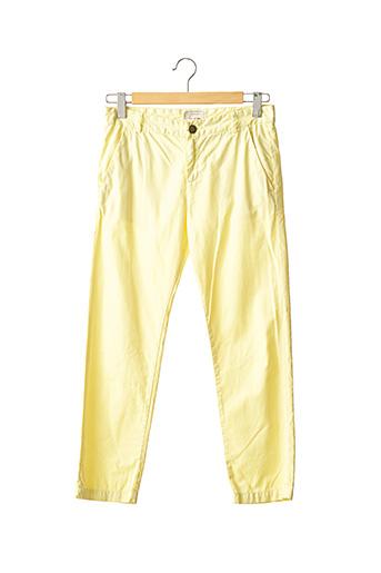 Pantalon 7/8 jaune CURRENT ELLIOTT pour femme