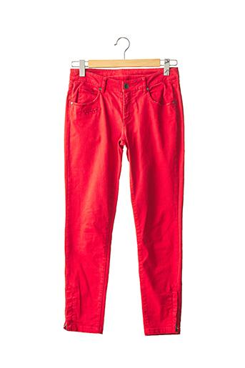 Pantalon 7/8 rouge IKKS pour femme