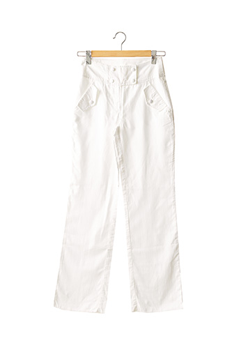 Pantalon chic blanc CARAMELO pour femme