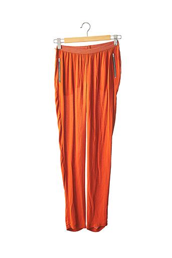 Pantalon casual orange AMERICAN VINTAGE pour femme