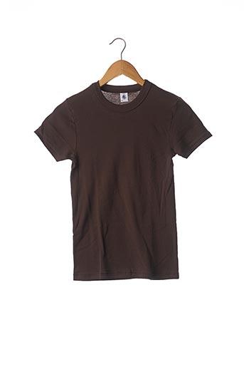 T-shirt manches courtes marron PETIT BATEAU pour enfant