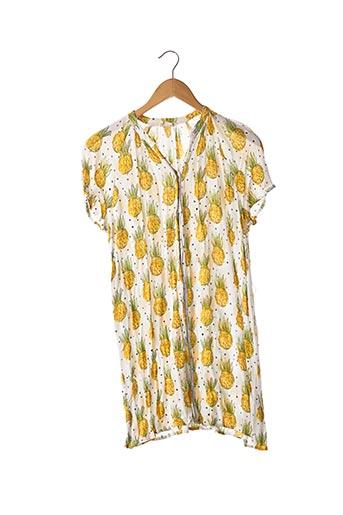 Robe courte jaune AMERICAN VINTAGE pour femme