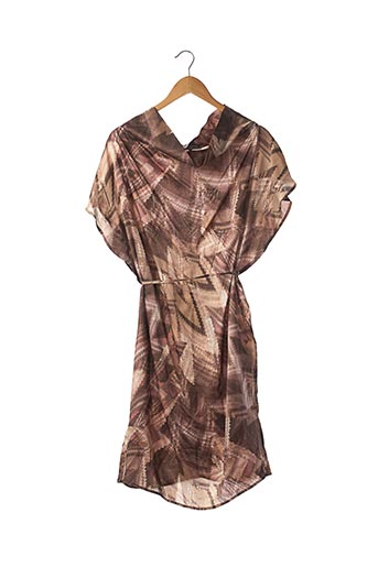 Robe mi-longue marron CRISTINA EFFE pour femme