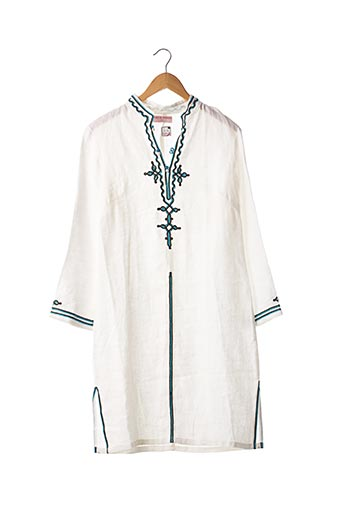 Tunique manches longues blanc TUNIQUE DES COTONNIERS pour femme
