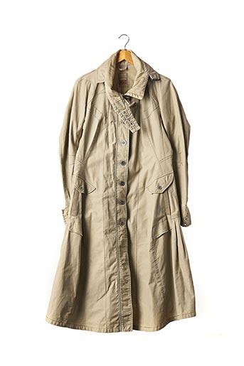 Manteau long beige MARITHE & FRANCOIS GIRBAUD pour femme