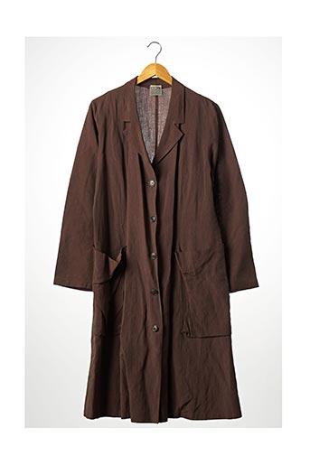 Manteau long marron LILITH pour femme