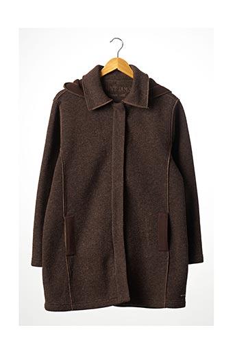 Manteau long marron SAINT JAMES pour femme