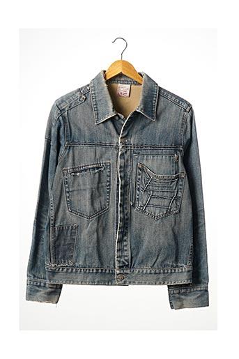 Veste en jean bleu SANS MARQUE pour femme