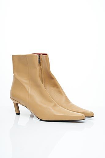 Bottines/Boots beige FREE LANCE pour femme