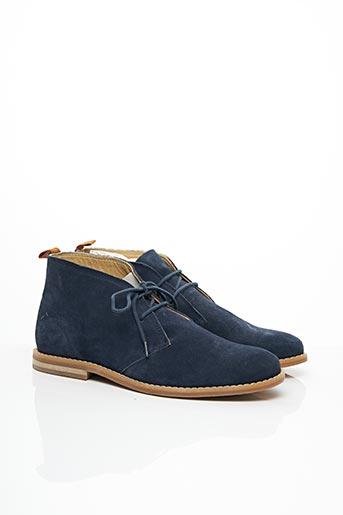 Bottines/Boots bleu JULES pour homme
