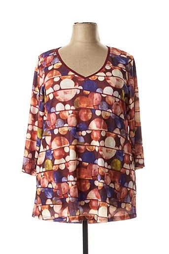 T-shirt manches longues orange FOR HER PARIS pour femme