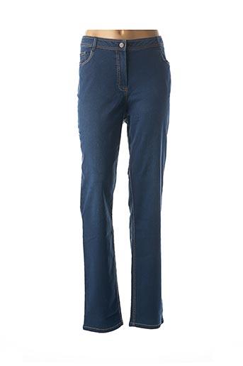 Pantalon casual bleu FELINO pour femme