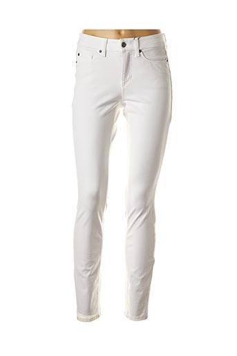 Jeans coupe slim blanc CAMBIO pour femme