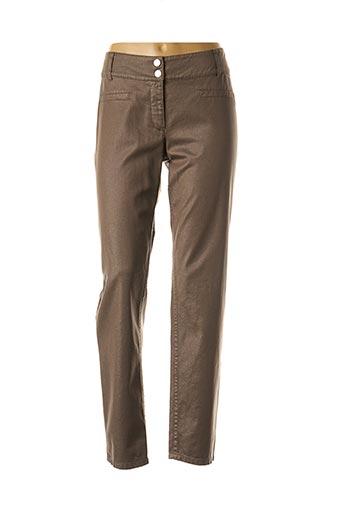 Pantalon casual marron CAROLINE BISS pour femme