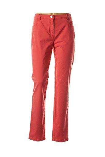 Pantalon casual rouge EUGEN KLEIN pour femme