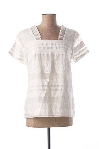 Blouse manches courtes blanc COP COPINE pour femme