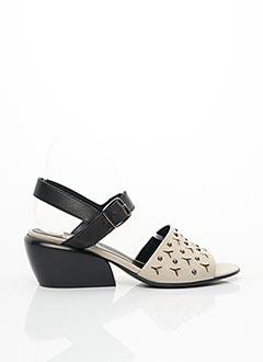 Sandales/Nu pieds noir FRU.IT pour femme