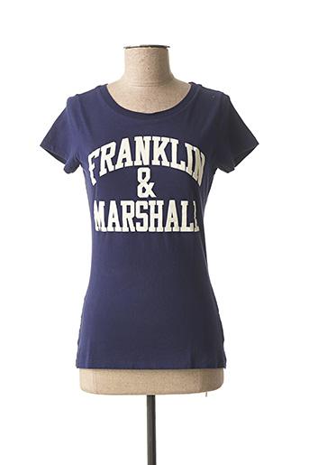 T-shirt manches courtes bleu FRANKLIN MARSHALL pour femme