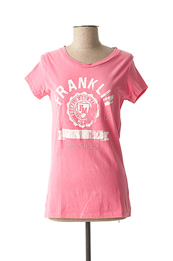 T-shirt manches courtes rose FRANKLIN MARSHALL pour femme