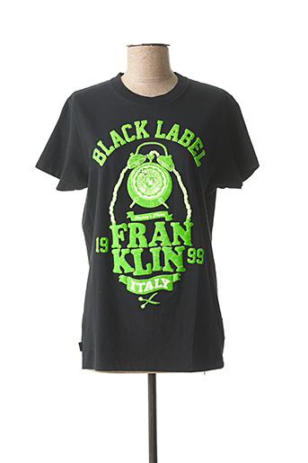 T-shirt manches courtes noir FRANKLIN ROOSEVELT pour homme