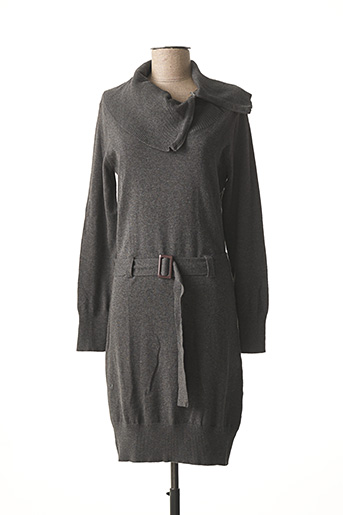 Robe pull gris EXCESSIVE pour femme