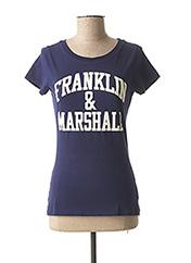 T-shirt manches courtes bleu FRANKLIN MARSHALL pour femme seconde vue