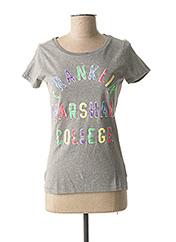 T-shirt manches courtes gris FRANKLIN MARSHALL pour femme seconde vue